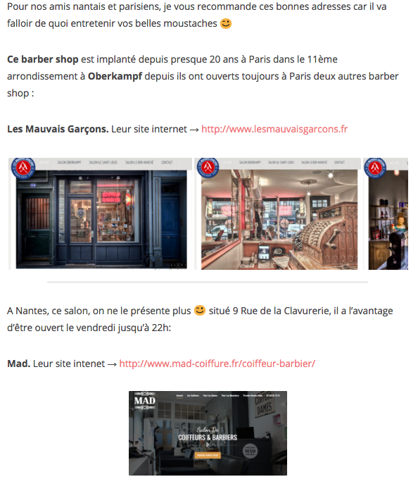 Capture de l'article de blog
