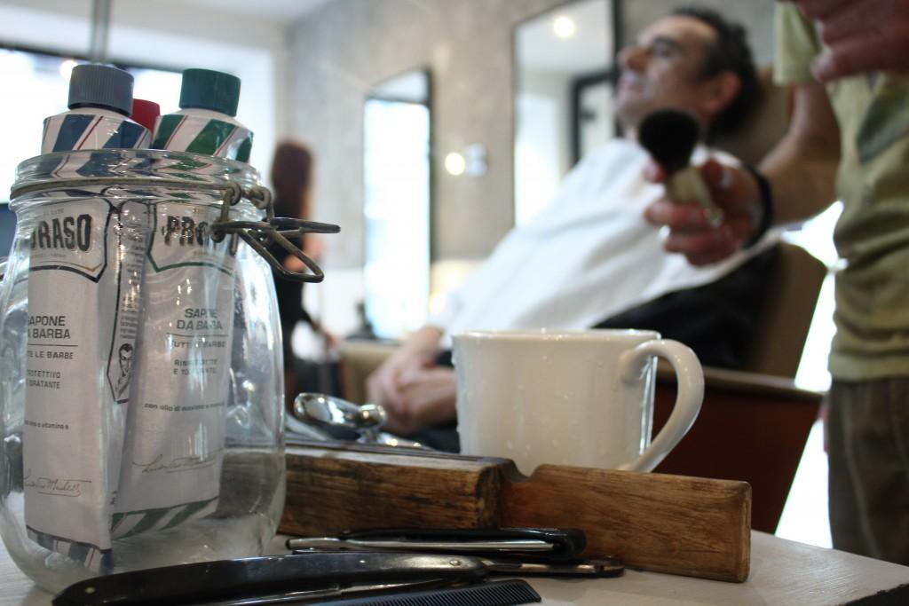 Le matériel de barbier